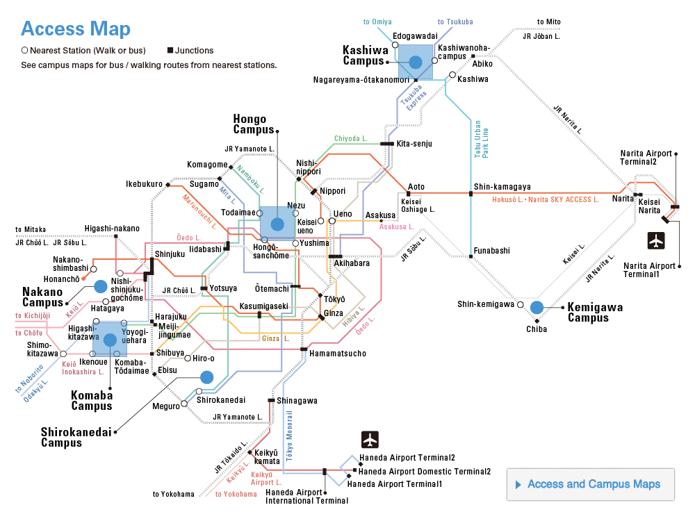 Access and Campus Maps