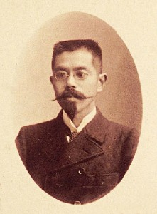 Figure 4: Genpachi Mitsukuri. Genpachi Mitsukuri (1862-1919) went to Germany in 1886, where he first studied zoology and then changed his specialty to history, returning to study this subject in Germany and France. After coming back to Japan, he succeeded Riess as professor of Western history at the Imperial University. His book History of the Great French Revolution (in two volumes) was praised as Japan's first academic book addressing revolutionary history.