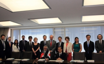Signing Ceremony of Agreement with CONICYT, Chile