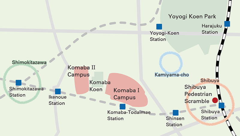 The main attractions near Komaba Campus
