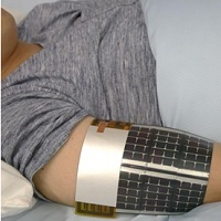 Fever alarm armband works on indoor light