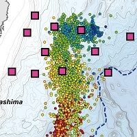 Migrating low-frequency tremors observed at shallow subduction interface