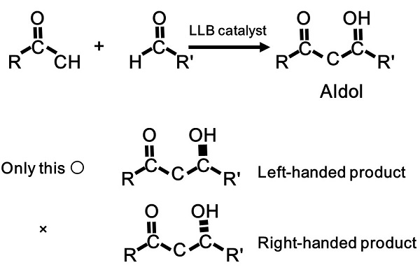 Figure 3: Direct catalytic asymmetric aldol reaction © The University of Tokyo.
