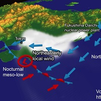 Winds carried radioactive materials from Fukushima to Tokyo