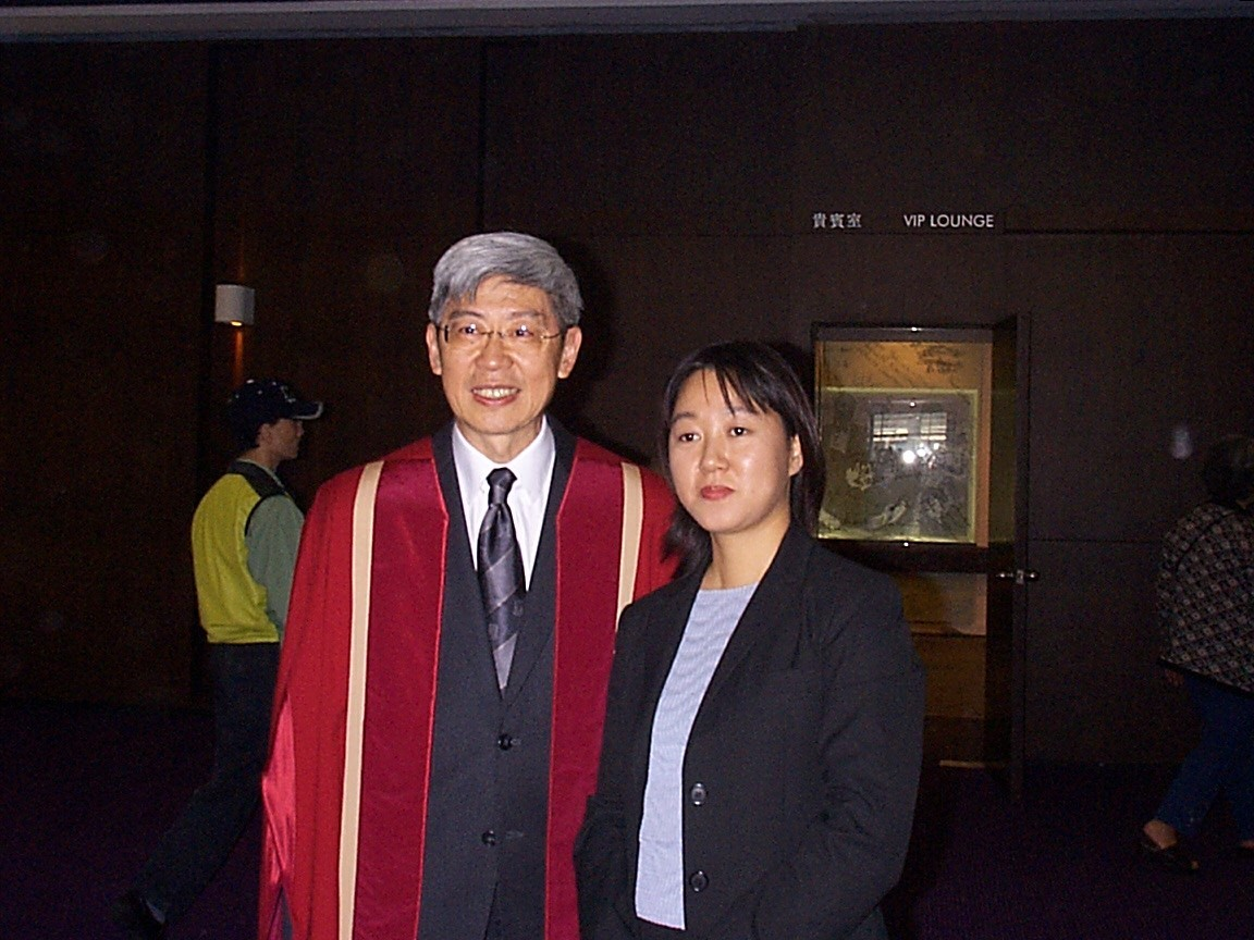 Figure 1: With Professor Cheng Kai Ming following the degree-awarding ceremony at the University of Hong Kong