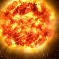 Surface explosion sets off final journey of dying star