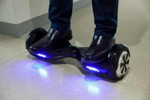 Photo: a mini-Segway hoverboard