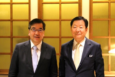 President Gonokami and President Sung