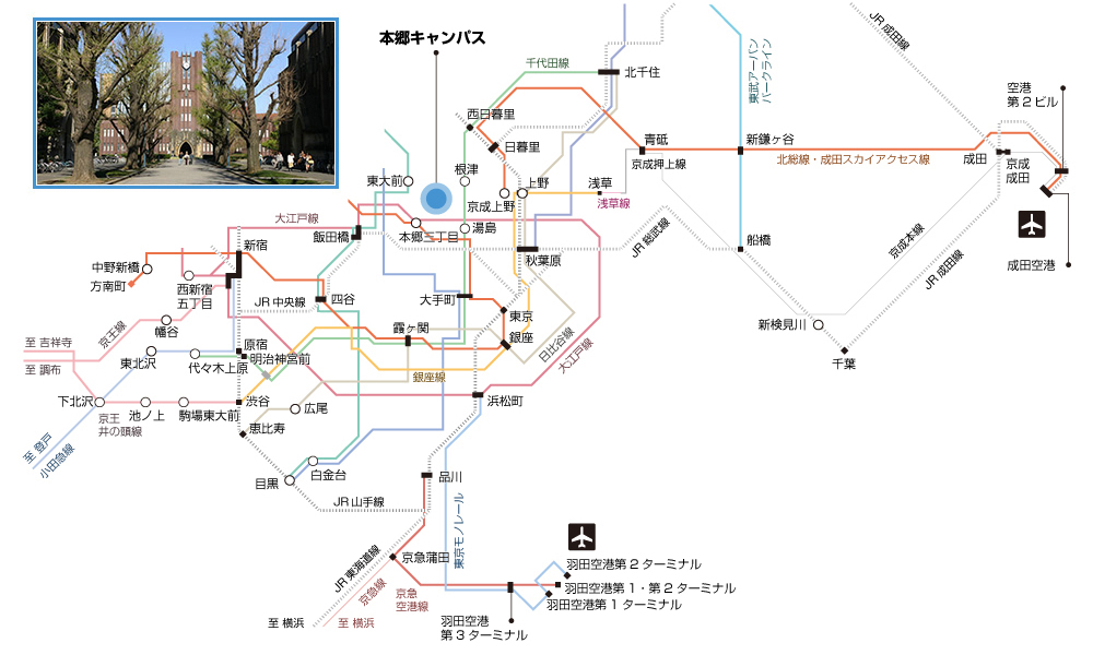 Hongo access Map