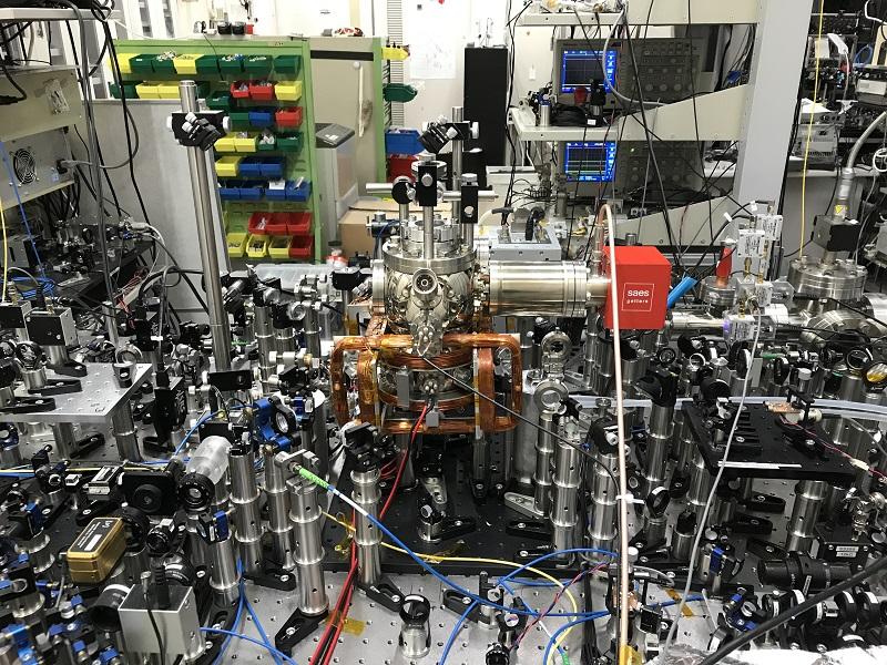 At present the optical lattice clock is a complex arrangement of optical and electronic components. Image © 2019 Katori et al..