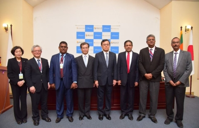 Speakers of the Opening Ceremony of the University of Tokyo Sri Lanka Office